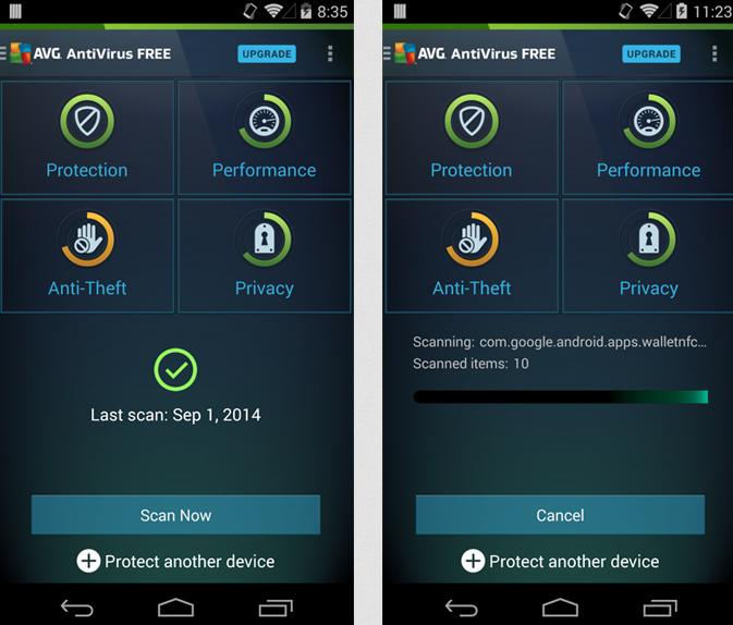 AVG Antivirus för Android